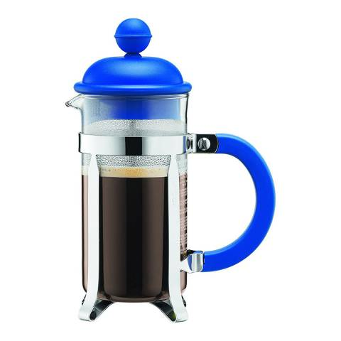Bodum Caffettiera 8 Cup Coffee Maker, Blue