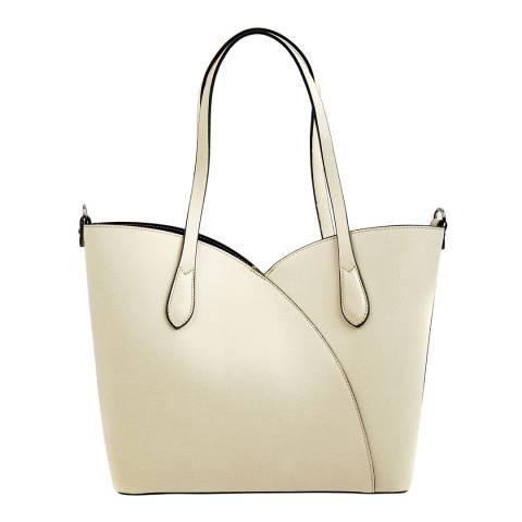 Isabella Rhea Beige Leather Shoulder Bag