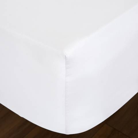 IJP Luxury 600TC Single Fitted Sheet, White