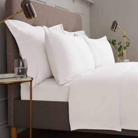 IJP Luxury 600TC Super King Flat Sheet, White