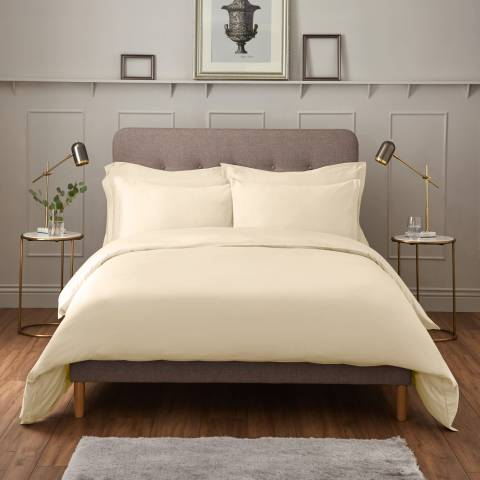 IJP Luxury 600TC Super King Duvet Cover, Cream