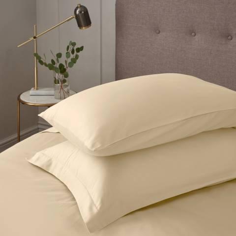 IJP Luxury 600TC Pair of Housewife Pillowcases, Cream