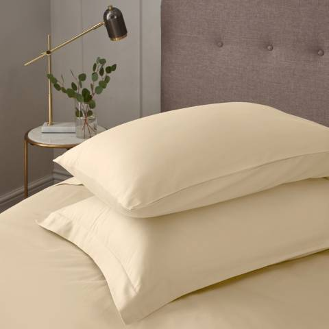IJP Luxury 600TC Pair of Oxford Pillowcases, Cream