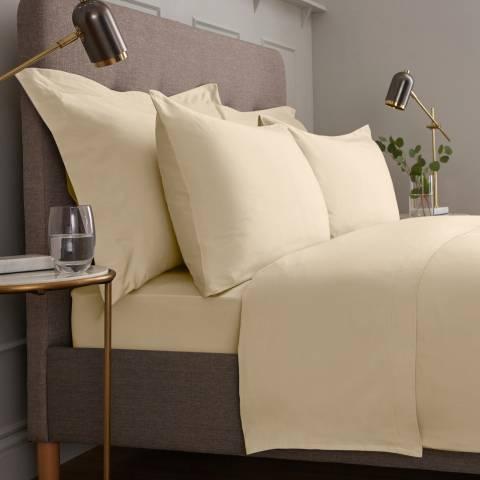 IJP Luxury 600TC King Flat Sheet, Cream