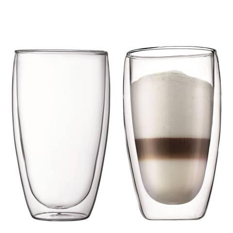 Bodum Pavina Set of 2 Double Walled Glasses, 450ml