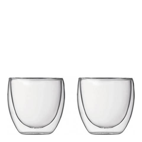Bodum Pavina Set of 2 Double Wall Glasses, 250ml