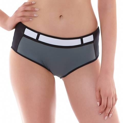 Freya Grey/Black Bondi High Waist Bikini Brief