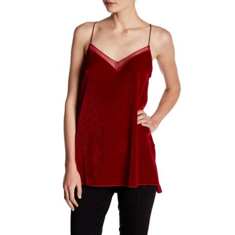 Free People Red Velvet Solid Top
