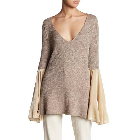 Free People Neutral Combo Celestial Jumper