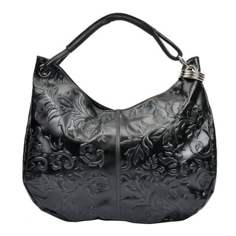 Renata Corsi Black Leather Tote Bag