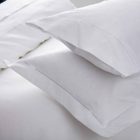 Belledorm 1000TC Large Square Pillowcase, White