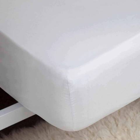 Belledorm Double 1000TC Fitted Sheet, White