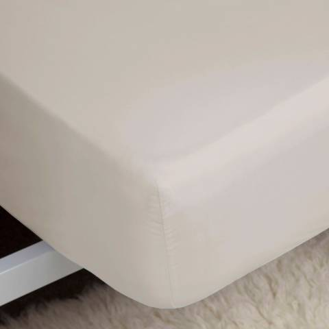 Belledorm Double 1000TC Fitted Sheet, Ivory