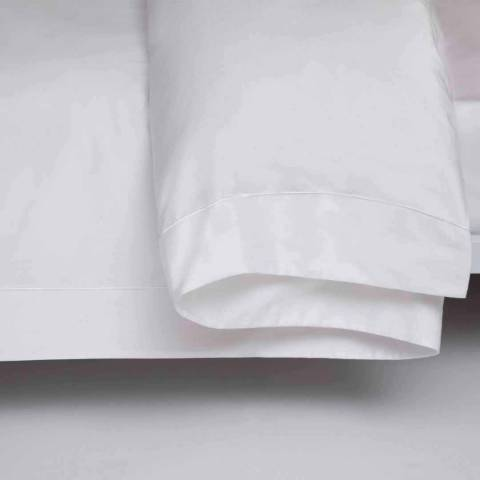Belledorm Single 1000TC Flat Sheet, White