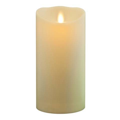 Luminara Weather Resistant Soft Touch Pillar Candle, Ivory 13cm