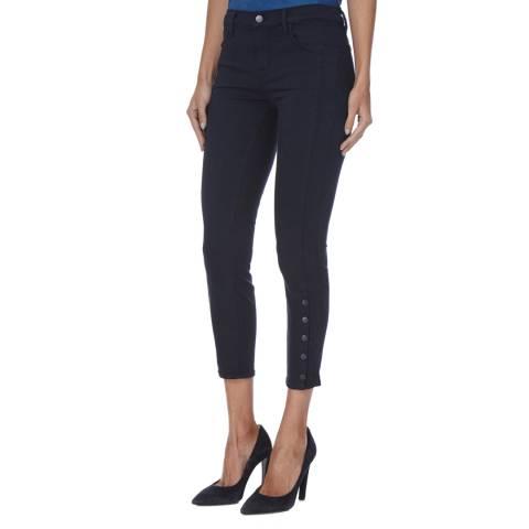 J Brand Dark Indigo Suvi Mid Utility Skinny Stretch Jeans