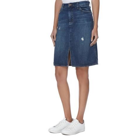 J Brand Dark Blue Carolina Denim Skirt