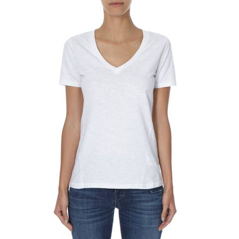 J Brand White Skinny Boy Cotton T-Shirt