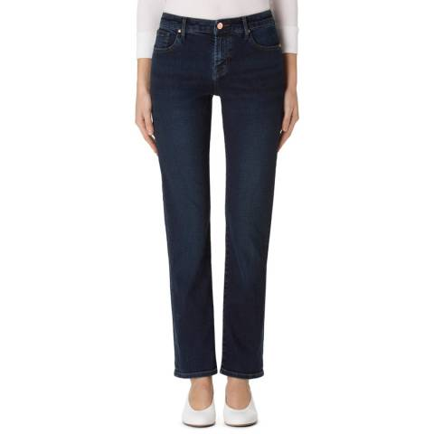 J Brand Throne Navy Amelia Straight Stretch Jeans