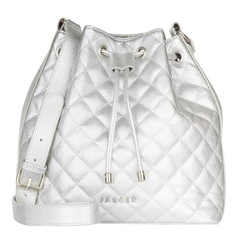 Jaeger Women's Silver Darcy Quilted Duffle Bag
