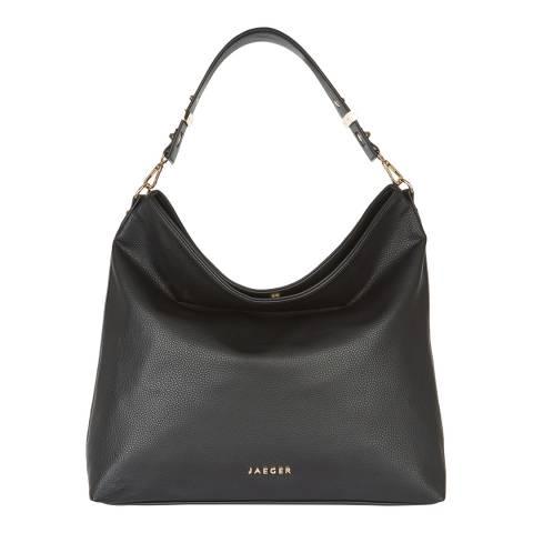 Jaeger Women's Black Ella Suedette Hobo Bag