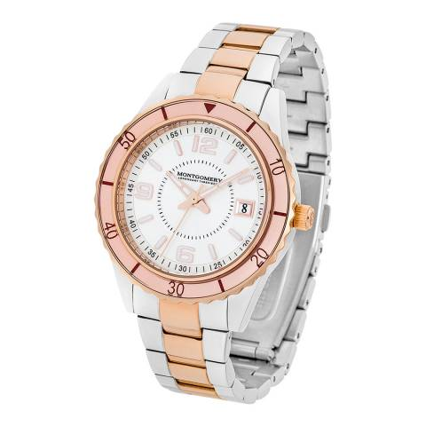 Montgomery Women's Rose/Silver Coloured Bury Watch