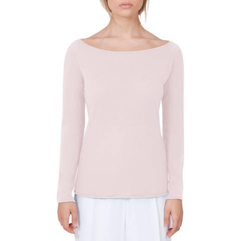 Belinda Robertson Camelia Pink Megan Wide Neck Wool/Cashmere Top