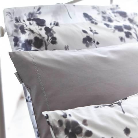 Bianca Cotton Sprig Oxford Pillowcase, Grey