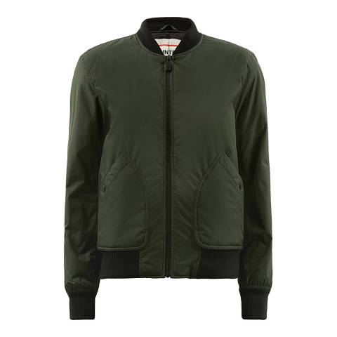 Hunter Green Bomber Jacket