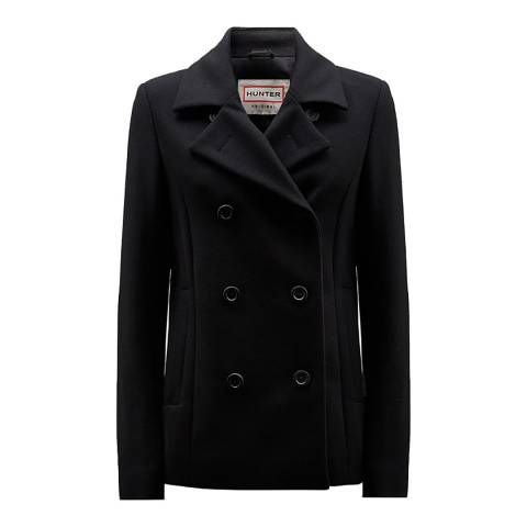 Hunter Women's Black Wool Coat