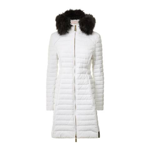 Hunter Women's White Original Fitted Down Coat