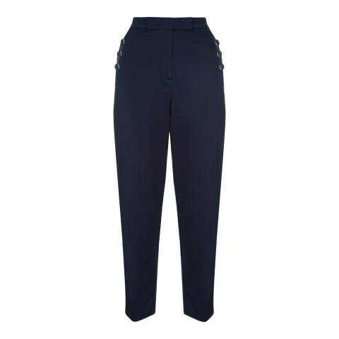 Jaeger Navy Chino Stretch Trousers