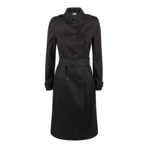 Jaeger Black Cotton Blend Trench Coat