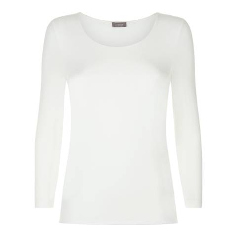Jaeger Ivory Stretch Jersey Top