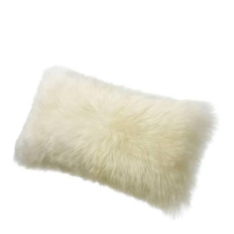 AUSKIN Ivory Long wool Sheepskin Cushion 28x56cm