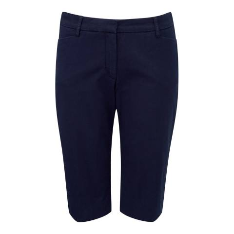 Pure Collection Navy Cotton City Shorts