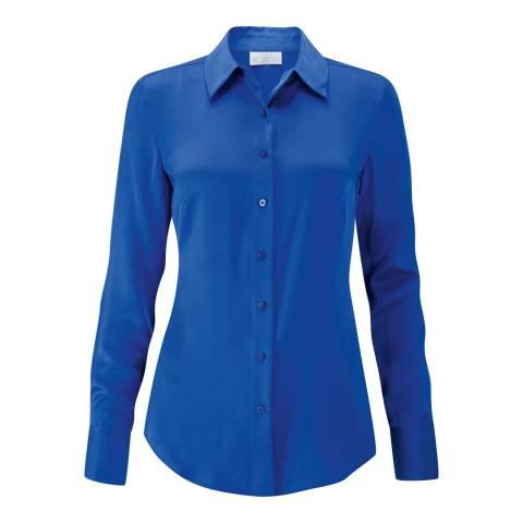 Pure Collection Bright Sapphire Silk Satin Blouse