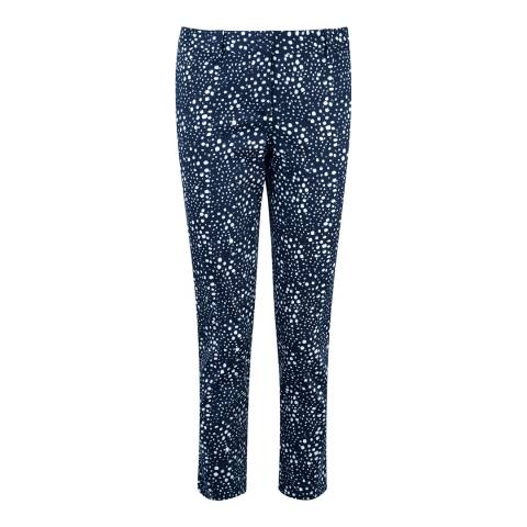 Pure Collection Brushed Spot Print Capri Trousers