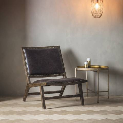 Gallery Chocolate Leather Carnaby Chair