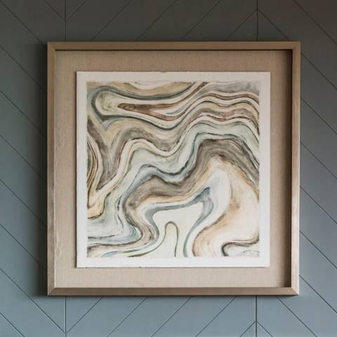Gallery Desert Ocean Framed Art 76x76cm