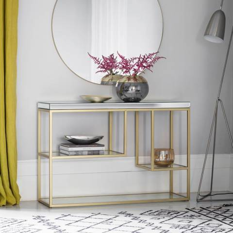 Gallery Champagne Pippard Console Table