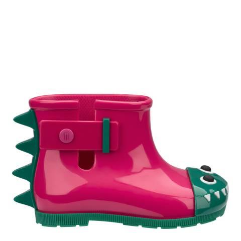 Melissa Pink Mini Monster Contrast Booties