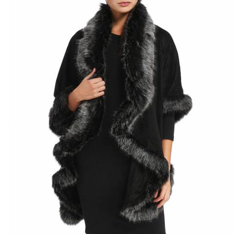 JayLey Collection Charcoal Faux Fur Jacket