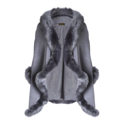 JayLey Collection Grey Faux Fur Jacket