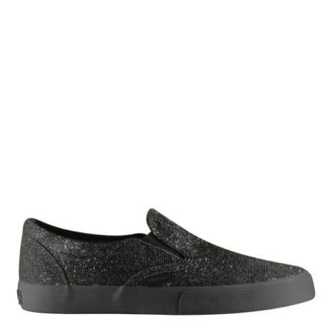 Superga Womens Black Coated Canvas Slip On Shoes