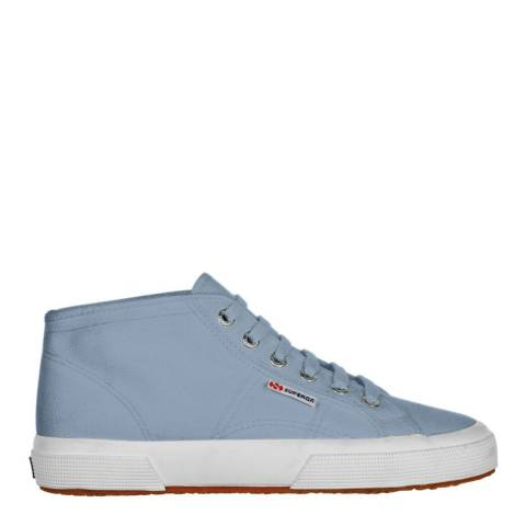 Superga Womens Light Blue Canvas Mid Trainers