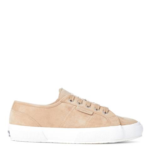 Superga Womens Beige Shearling Lined Fashion Trainers