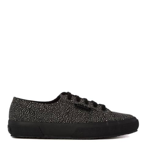 Superga Womens Black/Light Grey Speckled Fashion Trainers