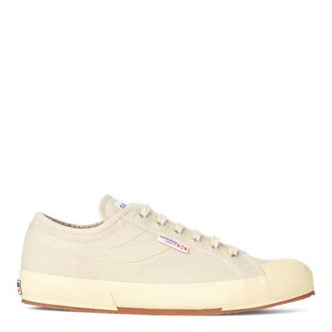 Superga Mens Ecru/Champagne Canvas Fashion Trainers