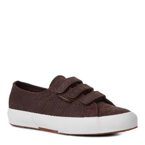 Superga Womens Coffee Suede Velcro Fashion Trainers